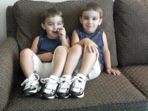 Our First Basketball Shoes