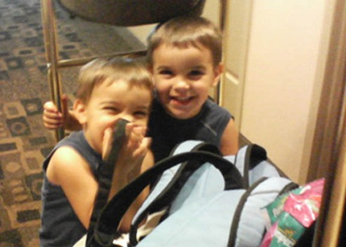 Riding the Luggage Cart Like Zack & Cody